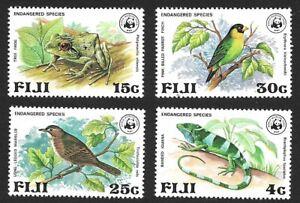 Fiji 1979 Endangered Species WWF 4v MNH Scott #397-400
