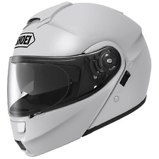 Shoei Neotec Modular Motorcycle Riding Helmet with Sun Shield- White Size Small
