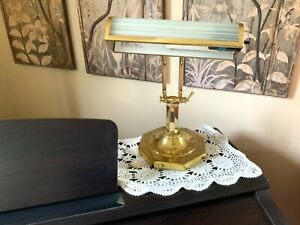 Brass Piano Desk Lamp Adjustable Polished Brass Table Bankers Student Study