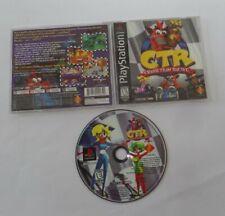 CTR: Crash Team Racing (PlayStation 1, 1999) PS1 Complete W/ Manual Black Label