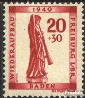 Franz. Zone-Baden 40A postfrisch 1949 Freiburg