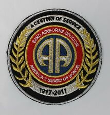 82nd DIVISION 100 YEARS OF SERVICE 1917- 2017 ANNIVERSARY AIRBORNE LEGACY PATCH