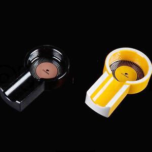 TOP QUALITY COHIBA Titanium Alloy Cigar Ashtray-Black/Yellow