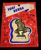 1956 Big League Stars Statues Series 4 Yogi Berra Statue and Packaging