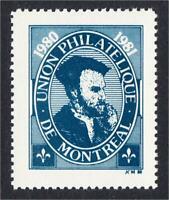 Montreal Canada Union Philatelique 1980 EXUP Stamp Show Label Jacques Cartier