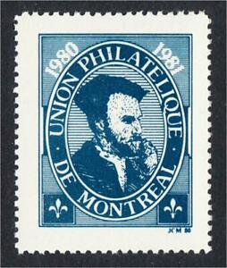 Montreal Canada Union Philatelique 1980 EXUP Stamp Show Label Jacques Cartier