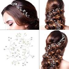 Perle Cheveux Vigne Cristal Mariage Mariée Accessoires Strass Coiffe UK Stock