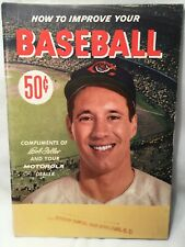 1957 How to Improve Your Baseball Booklet Bob Feller Cleveland Indians Motorola