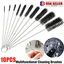 10Pcs Nylon Brush Cleaners Cleaning Straw Drinking Pipe Cleaners Stainless Steel