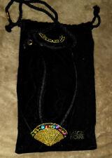Vintage Lancome Magie Noire Small Black Beaded Oblong Evening Bag Purse