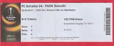 Orig.Ticket   Europa League  2016/17  FC SCHALKE 04 - PAOK THESSALONIKI  !!