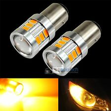 2X 1156 470 Lumen 5630 Chip LED Yellow Amber Turn Signal Brake Tail Light Bulbs