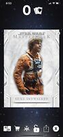 Star Wars Digital Card Luke Skywalker Wave IX Award Card