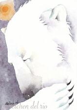 GREETING CARD spiritual art watercolor spirit totem animal Ice Bear 'SHAMAN'