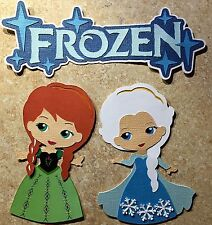 Frozen Title, Elsa & Anna Die Cuts (Scrapbook and/or Card Embellishment)
