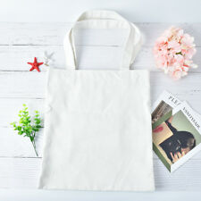 portátil simple estilo blanco/negro compras bolsa de lona bolsa de algodón