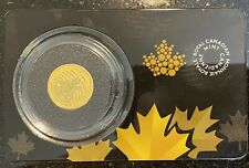 2015 Canada 1/10 oz .99999 Gold Coin Howling Wolf In Assay Card