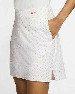 "Nike Golf Women's Dri-FIT UV Victory Printed Skirt Short -Skort 17"" CI9872-101 M"