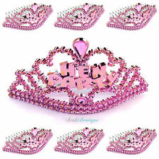 Pink Hen Party Mini Tiaras x 6 - Hen Night Party Do Accessories Bag Fillers