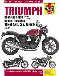 Haynes Manual For Triumph Bonneville T120 1200cc 2016-2017