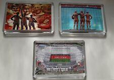 More details for 3x manchester united man utd stadium holy trinity statue football fridge magnet