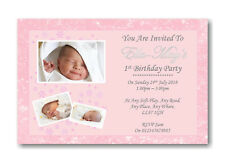 20 Personalised Girls 1st First Birthday Party Invitations Invite Ref B56