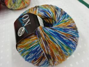 Supersocke SILK Color 310 - Fb. 2661 blau-orange-color - 100g ONline Wolle,Seide