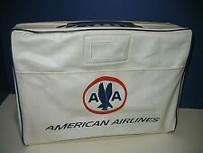 AMERICAN AIRLINES VINTAGE ZIP CLOSE TRAVEL BAG CARRYING CASE WITH HANDLE RARE