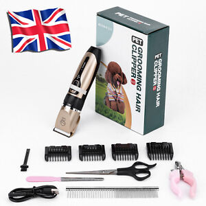 Electric Cordless Pet Dog Shaver Grooming Quiet Clippers Trimmer Scissors Kits