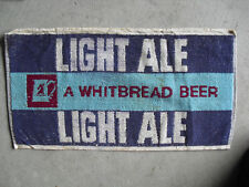 Vintage 1960s Whitbread Beer Light Ale Bar Used Towel