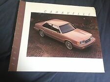 1987 Plymouth Caravelle K Car Color Brochure  Prospekt