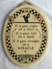 Trinity Pottery Golf Plaque Wall Hanging Humorous Gift