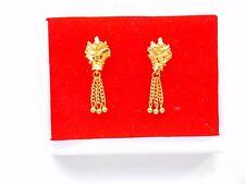 Chapado en Oro 22k Aretes Indio Asiático De Moda Bisutería e6