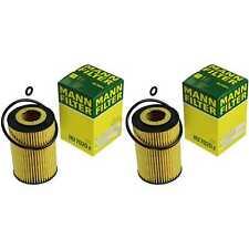 2x Original Mann-filter Oil Filter Hu 7020 Z Oil Filter