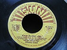 Johnny Cash SUN Label 45  Rock Island Line / Next in Line  Re Issue  #1111