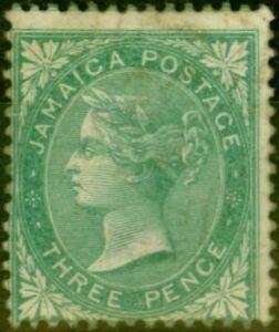 Jamaica 1863 3d Green SG3 Good Unused