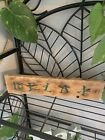 """Wooden Home Decor """"relax"""" Handmade Wooden Sign House Decoration"""