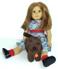 """American Girl Doll & Dog Emily Chocolate Chip Dress Shoes 19"""" Tall Retired"""