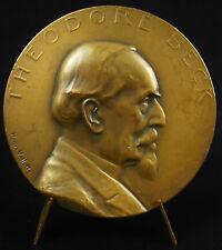 Medaille Theodore Beck pasteur Germanist Französisch Alsace Hanri Vallette