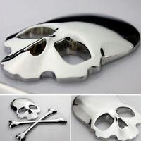 1x Fashion Car Truck 3D Metal Skull Head Bone Logo Modified Emblem Sticker Decal