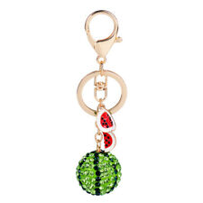 Ring Key Chain Women's Handbag Keychains 12cm Fashion Green Watermelon Metal Key