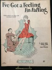 I've Got A Feeling I'm Falling Billy Rose Harry Link VTG sheet music