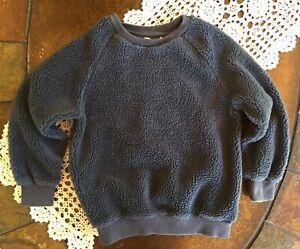 Zara Boys Collection Crew Neck Sweater Fleece Pullover Dusty ~ Blue Sz  7 122 CM