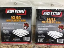 Mattress Bags 1 King 1 Full  Cover Move N Store lot of 2