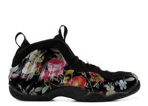 Nike W Air Foamposite One Floral Black Multicolor AA3963-002 Women's 9 Men's 7.5