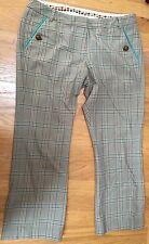 Original PENGUIN Munsingwear Tan Stretch WOOL PLAID CAPRI CROPPED PANTS 2 GOLF