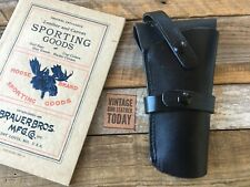 Vintage Brauer Brothers Black Leather Revolver Holster H30 For Blackhawk .357 SA