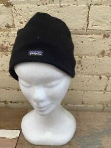 Genuine Patagonia Unisex Black Beanie One Size Fits All 50% Wool 45% Polyester