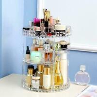 360 Degree Rotating Cosmetic Make Up Storage Box Organizer Display Acrylic H1N6