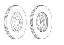 2x Brand New Ferodo Front Brake Disc - DDF1449 - 12 Month Warranty!